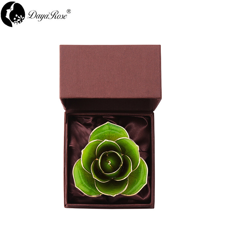 Love's Only Pale Green Gold Rose (natural Rose)