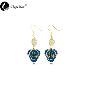 Gold Rose Earrings (fresh Rose)