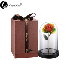 Wholesale Processing Customized Diana Three-color Gold Rose(The Glass Cover)