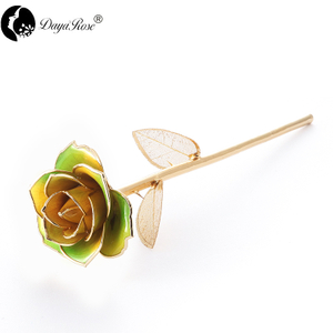 Daiya Yellow And Green Two-color Rose 24K Gold (gold Leaf)