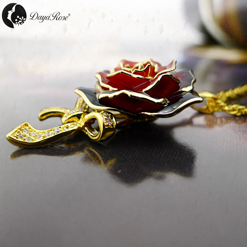 Bow Two-tone Rose Necklace (fresh Rose)