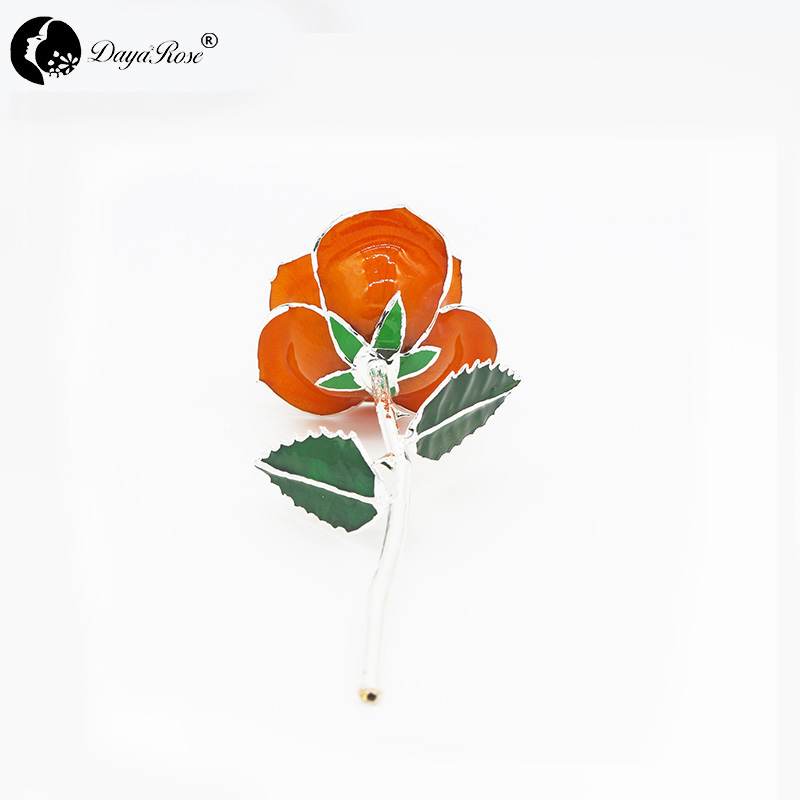 Orange with Silver Roses(June)