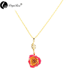 Lover Rainbow Rose Necklace (fresh Rose)