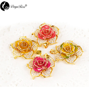 Floral Gold Rose Necklace (floral Rose)