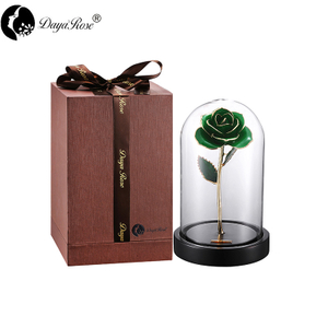 Dark Green Rose Gilding(The Glass Cover)