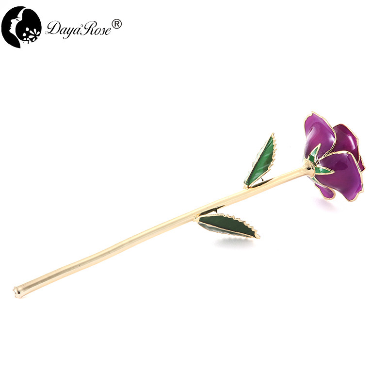 Wholesale Processing Customized Diana Purple Gold Rose