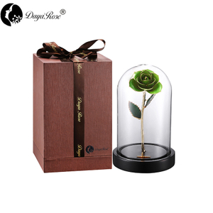 Wholesale Processing Customized Diana Pale Green Gold Rose (The Glass Cover)