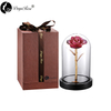 Daiya Champagne Purple Border Rose 24K Gold /gold Leaf+The Glass Cover