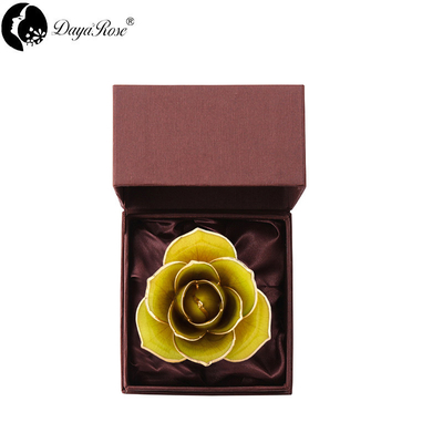 Love Only Champagne Blue Border Gold Rose (natural Rose)