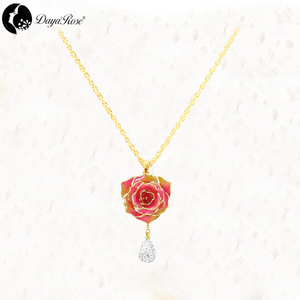 Drop Gold Rose Necklace (fresh Rose)