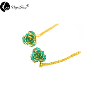 Double Love Gold Rose Earrings (fresh Rose)