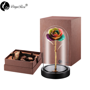 Daiya Colorful Rose 24K Gold /gold Leaf+The Glass Cover